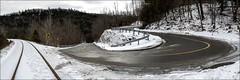 Belfountain, Ontario (RichardKz) Tags: traintracks ontario belfountain stitchedpanorama panorama stitched caledon