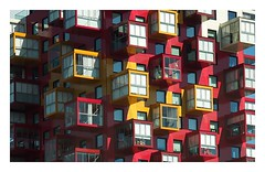 living in the beehive (kurtwolf303) Tags: architecture architektur building gebude olympusem1 omd microfourthirds micro43 colorful bunt farbig fenster windows fassade facade rnskldsvik schweden sweden sverige europe skandinavien scandinavia flickrelite 250v10f topf25 topf50 500v20f topf75 topf100 750views 800views