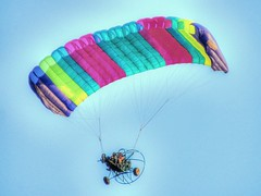 Go Over (clarkcg photography) Tags: colors plane fly small multicolor ppc chutes poweredparachute parachuteplane