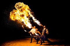 Cracheurs de feu (virginiefort) Tags: afs241204ged d600 chateau cracheurdefeu feu fire fireeater flame flamme moustierventadour nikon troubadour