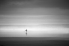 Saunton Surfer (Scott Baldock) Tags: devon saunton sands surfer beach mist sea uk
