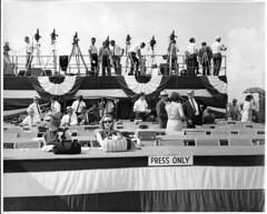 Barkley Dam Dedication (NashvilleCorps) Tags: pressbox barkley barkleydam cumberlandriver albenbarkley vicepresidentalbenbarkley huberthumphrey vicepresidenthuberthumphrey corpsofengineers usace nashvilledistrict kentucky