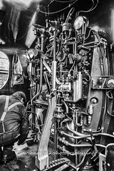 Day 251: Footplate in Mono (Howie1967) Tags: steam locomotive loco controls regulator brake blackandwhite back white monochrome high contrast vintage technology great western railway mnr preserved
