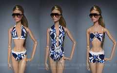 Basic Geometry Tom Ford Trio Set /RESORT WEAR 2016 (Culte De Paris) Tags: basic geometry tom ford trio set resort wear 2016 nu face be daring imogen summer beach swimsuits miniature bikini monokini shorts bodysuit handcrafted fr fr2 fashion royalty agnes blonde it integrity toys culte de paris julia leroy jason wu haute couture fashionista prints parisian style