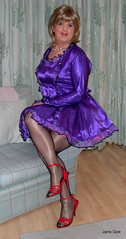 1 Purple Maid, Thank you for all of your lovely comments xxxx (janegeetgirl2) Tags: transvestite crossdresser crossdressing tgirl tv ts stockings heels garters nylons glamour petticoat purple red satin dress stilettos fully fashioned high vintage seams maid black suspenders jane gee