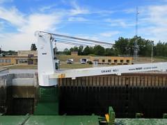Crane On The BBC Manitoba. (dccradio) Tags: massena ny newyork stlawrencecounty stlawrenceseaway eisenhowerlocks locks stlawrenceriver ship cargo bbcmanitoba boat large shipping vessel