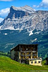 Dolomiti 2016 (Massimo.Bracchi) Tags: panorama dolomiti montagna monti blue blu cielo sky moutains clouds nuvole nubi rocce rocks green verde grass erba prati italy