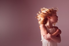 Shake it off... (Jennifer Blakeley) Tags: hair wind child childhood girl portrait hug pink