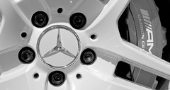 Brake and Wheel - AMG Carbon Ceramic (Fabio Enrico Spagnoli) Tags: star mercedes car race hmm macro macromondaystars white amg brake blackandwhite wheel cars logo stemma symbol elegance sport corse