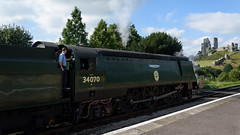 Swanage Railway 02 (Matt_Rayner) Tags: swanage railway corfe castle station steam train manston battle of britain class
