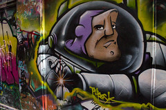 Buzz Lightyear (codedtestament777) Tags: citysights5 graffiti art beautiful love life design surreal text bright sign painting writing nature crazy weird fabulous environment cartoon animation outdoor street photo border photoborder illustration collection portrait face expression character