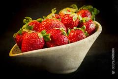 Lusciousness (G. Cordeiro) Tags: fruit strawberries red berry bowl stilllife macro