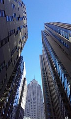 Looking up in the Financial District of New York City (eltpics) Tags: eltpics ny building skyscraper high district height dizzy architecture finance
