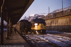 Soo Line 2501A-B EMD F3AA at Duluth, Minnesota February 14, 1957 (Twin Ports Rail History) Tags: twin ports rail history by jeff lemke time machine soo line railroad duluth minnesota emd electromotive f3a covered wagon diesel electric locomotive