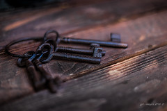 The Forgotten Keys  29/52 (kirby126) Tags: rusty keys forgotten found old wood grain decay rust metal canon6d canon f14 50mm pjlimages the shed studio