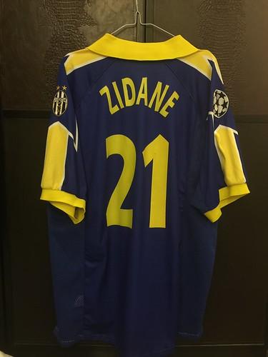 120b2c9079e Juventus Zidane UCL Match issued away Shirt 97 98
