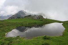 Specchio tra le nubi (supersky77) Tags: scermendone masino valmasino lago lake tarn pond laghetto specchio mirror reflection riflesso nuvole clouds alpi alps alpes alpen lombardia lombardy lombardei lombardie valtellina