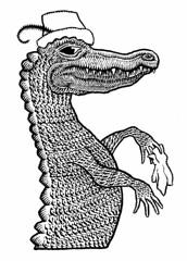 Gator Dandy (Don Moyer) Tags: creature ink drawing alligator gator notebook moyer donmoyer brushpen dandy