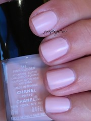 Chanel Pink Rubber (purple yellow) Tags: chanel pink rubber nail polish