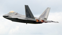 USAF F-22. (spencer.wilmot) Tags: ff 09191 usaf f22 raptor ffd egva fairford airbase airshow airdisplay afterburners stealth flypast departure takeoff display aviation airplane aircraft plane jet militaryaviation