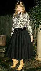 Bedroom to Garden (Amber :-)) Tags: black midi skirt tgirl transvestite crossdressing