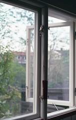 Home (Trixi Skywalker) Tags: expired film canon av1 50mm 18 stockholm sweden sverige window house building architecture fujifilm superia 200