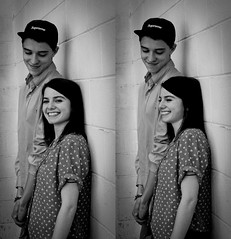 (Lauren Driscoll Photography) Tags: light boy portrait people white black cute love girl beautiful 50mm nikon diptych couple pretty natural nikkor d300