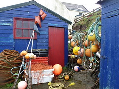 fishermens huts (Steph-nine) Tags: scotland buoys stabbshead fishermanshuts