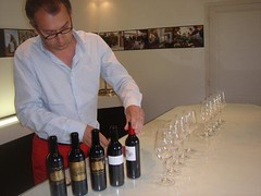 Chateau Palmer CEO Director prepares the samples
