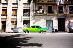 Green car (rob cheatley) Tags: nikon classiccar havana cuba wide wideangle tokina 16mm 11mm d5000 tokina1116mmf28