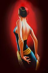 """Vuelve a m. mame sin luz en nuestra alcoba azul..."" (PupillaGustatina!) Tags: red espaa woman donna mujer spain bodylanguage mani sensual rosso luce sensualit alcobaazul"