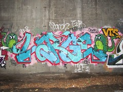 Large (soulroach) Tags: new york nyc ny graffiti freedom large tunnel vts