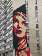 street art & graffiti Paris - Obey (_Kriebel_) Tags: kriebel uploadedviaflickrqcom