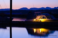 Evening at the Marina (The Ambling Monk) Tags: ocean sea canada night marina river evening boat nikon bc pacific britishcolumbia surrey pacificnorthwest nicomekl d5100
