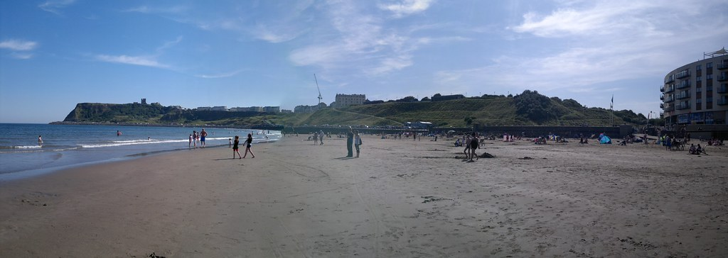 North Bay Beach and Castle