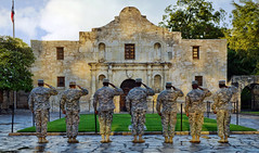 A Salute to the Past (Jeff Clow) Tags: history texas respect salute soldiers tribute thealamo sanantoniotexas tpslandscape gpsetest