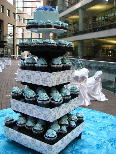 Silver and Blue cupcake Dream Tower