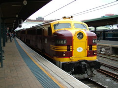 Second last train to Kandos (rob3802) Tags: train diesel central rail railway loco railwaystation locomotive alco diesellocomotive 4473 kandos sydneycentralstation 4486 dieselelectriclocomotive 3801limited 44class goodwinalco aegoodwin goodwinalcogroup