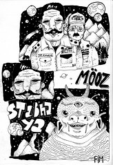 St.abhaya (Moozí) Tags: white black comics drawing indian da fim bd ya officer canetas mooz mutation sergeant merda abhaya