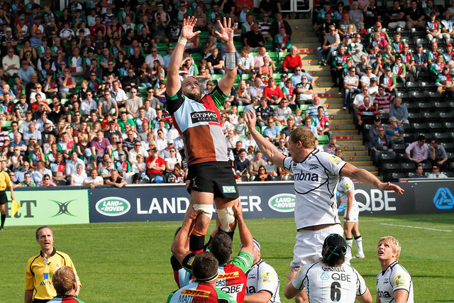 The Goatman takes an easy one at the line out