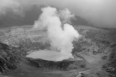 Volcano B&W (Oliver J Davis Photography (ollygringo)) Tags: world travel nature landscape volcano nikon costarica energy centralamerica 2012 volcan volcanology poas centroamerica activevolcano d90