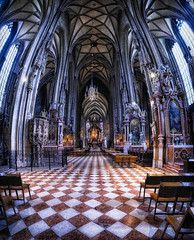 St Stephen's Cathedral, Vienna, 12th Century (Wendy Rauw) Tags: vienna panorama art parish architecture religious austria cathedral interior religion stephansdom viena stephan hdr ststephen archbishop stephansplatz 12thcentury ststephenscathedral vectorama