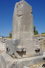 The Inscribed Pillar (Badly Drawn Dad) Tags: turkey geotagged tur xanthos izmir 400bc knk lycianinscriptions inscribedpillar geo:lat=3635727402 geo:lon=2931871502