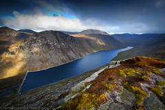 Ben Crom Reservoir (bazmcq) Tags: park uk autumn ireland summer sun lake mountains nature rock stone canon newcastle walking landscape photography eos climb photo nationalpark high scenery track image unitedkingdom hiking walk dam united scenic lewis kingdom dry sunny down 100v10f hike reservoir climbing narnia granite mountaineering northernireland ni mm geology kilkeel mourne 1022 drystone ulster mournemountains slievebinnian countydown mountainscape cslewis morne slieve 500d crom icapture codown binnian annalong percyfrench bencrom flickraward areaofoutstandingnaturalbeauty northernirelandphotography barrymcqueen yahoo:yourpictures=landscape mountainsofmournesweepdowntothesea yahoo:yourpictures=waterv2 yahoo:yourpictures=yourbestphotoof2012