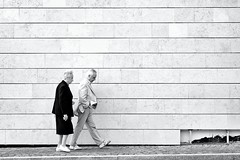 Two of us (2) (enki22) Tags: street people urban candid conceptual bianco nero aosta enki22