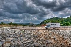 Hdr camper (Marco Forgione) Tags: travel holiday river nikon stones fiume adventure tuscany caravan toscana camper rocce viaggio hdr vacanza campervan d90 avventura
