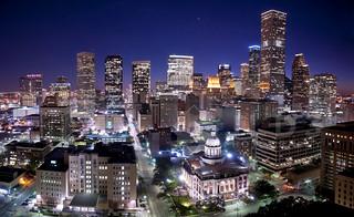 Houston Skyline Illuminated [pano]