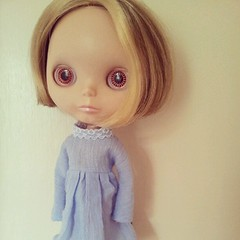 Kooky little girl, here for a make over. #blythe