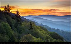 Great Smoky Mountains National Park - Morning Haze at Oconaluftee (Dave Allen Photography) Tags: greatsmokymountains oconaluftee valley tn wnc mountains sunrise north carolina northcarolina tennessee nature outdoors nationalpark gsmnp newfoundgap smokies smokymountains nc sunset smoky national park layers ridges peaks valleys sky dramatic daveallen fineart landscape photography nikon d800 nikond800 telephoto mygearandmediamond