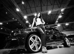 Volkswagon Scirocco - Indonesian International Motor Show 2012 (F1etch) Tags: new blackandwhite bw white black cars monochrome indonesia java blackwhite sony sigma jakarta adobe software nik monochrom alpha 1224mm lr volkswagon motorshow 2012 lightroom scirocco a900 colorefex strobist